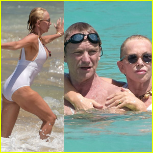 Sting & Trudie Styler Show Some PDA in St. Barts