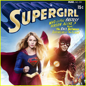 Grant Gustin Joins 'Supergirl' in 'The Flash' Crossover Episode Poster