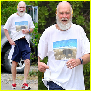 Unrecognizable David Letterman Goes for Jog in St. Barts