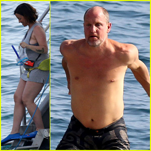 Woody Harrelson Goes Snorkeling with Pregnant Alanis Morissette in Hawaii!