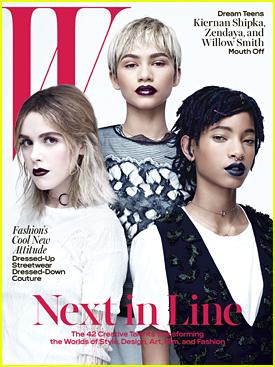 Kiernan Shipka & Zendaya Cover 'W' Mag's April 2016 Issue with Willow Smith