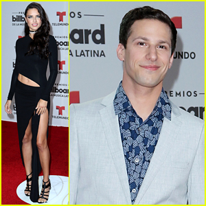 Adriana Lima Found the Only 'Gringo' at the Billboard Latin Music Awards - Andy Samberg!