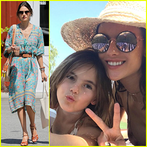 Alessandra Ambrosio Brought Her Kids to Coachella!