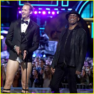 Alexander Skarsgard Skips His Pants, Shows Off Tighty-Whities at MTV Movie Awards 2016 (Photos & Video)