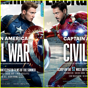 Chris Evans & Robert Downey, Jr. Face Off in 'Captain America' Covers!