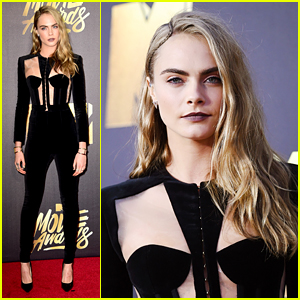 Cara Delevingne Suits Up for MTV Movie Awards 2016