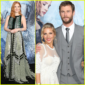 Chris Hemsworth & Jessica Chastain Attend 'The Huntsman' Premiere