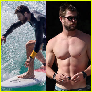 Chris Hemsworth Looks Super Hot Surfing in Australia