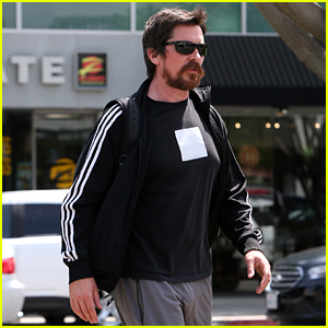 Christian Bale Steps Out in His Workout Gear for a Meeting