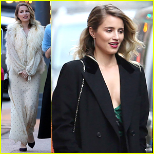 Dianna Agron Dolls Up for a Wedding in Aspen