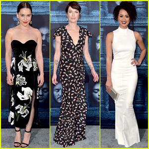 Emilia Clarke, Lena Headey & Nathalie Emmanuel Premiere 'Game of Thrones' Season Six!