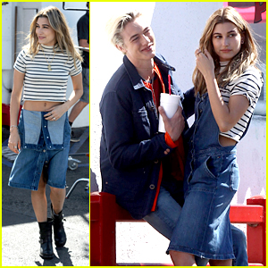 Hailey Baldwin Joins Lucky Blue Smith for Tommy Hilfiger Shoot