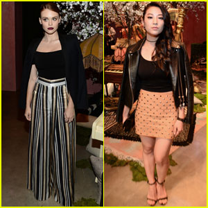 Holland Roden & Arden Cho Are Alice + Olivia Show Beauties!
