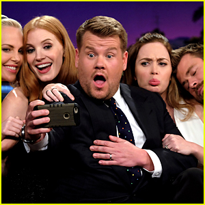 'Huntsman' Cast Plays Cell Phone Profile with James Corden!