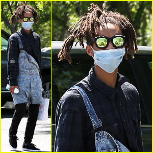 Jaden Smith Wears a Surgical Mask While Out to Lunch