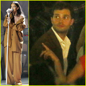 Jamie Dornan Checks Out Rihanna's Concert in Vancouver