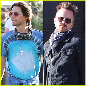 Jared Leto & Aaron Paul Check Out Day 1 of Coachella 2016!