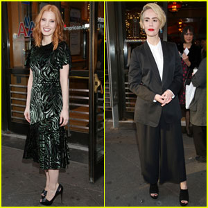 Jessica Chastain & Sarah Paulson Step Out for 'Long Day's Journey Into Night' Opening