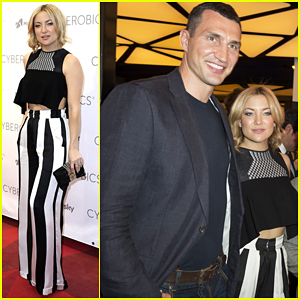 Kate Hudson Buddies Up with Wladimir Klitschko At World Of Cyberobics Presentation!