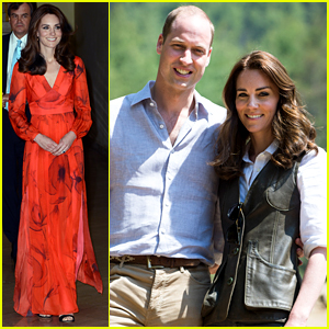 Kate Middleton Is Rose Red for Bhutanese Friendship Reception