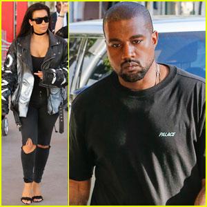 Kim Kardashian, Kanye West, & Family Hit Up the LACMA