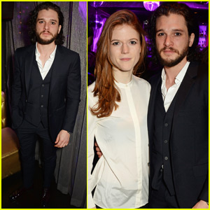 Kit Harington & Rose Leslie Couple Up at 'Doctor Faustus' Gala Night