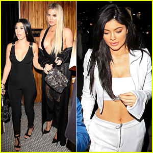 Kourtney & Khloe Kardashian Hit Up Gigi Hadid's Birthday Party with Kylie Jenner!