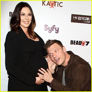 Nick Carter Kisses Pregnant Wife Lauren's Baby Bump