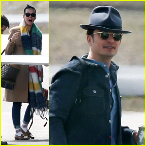 Katy Perry & Orlando Bloom Return From Colorado Getaway