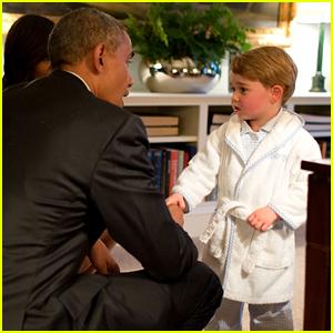 Prince George Wears Stylish Pajamas to Meet the Obamas!