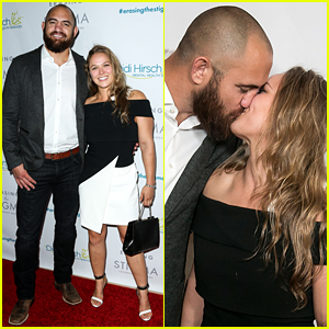 Ronda Rousey Kisses Boyfriend Travis Browne on Red Carpet!