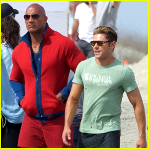 Zac Efron & Dwayne Johnson Are 'Avengers of the Beach'