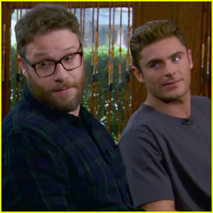 Zac Efron & Seth Rogen Get Fratty While Playing Mario Kart