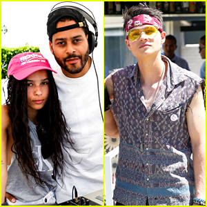 Zoe Kravitz & Will Peltz Close Out Coachella with Calvin Klein