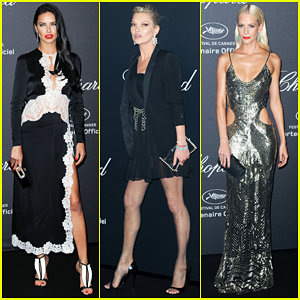 Adriana Lima & Kate Moss Get Glam For Chopard Wild Party!