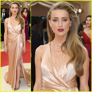 Amber Heard is a Champagne Beauty on Met Gala 2016 Carpet