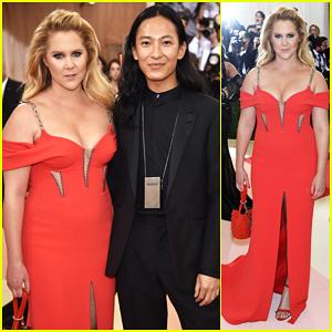 Amy Schumer Is Red Hot In Alexander Wang For Met Gala Debut!
