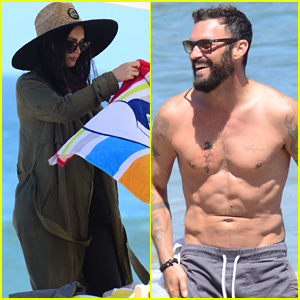 Brian Austin Green Shows Off His Six-Pack at the Beach with Megan Fox