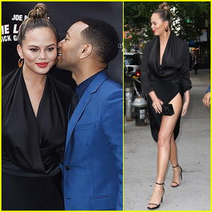 Chrissy Teigen & John Legend Have a Date Night at 'Turn Me Loose' Opening