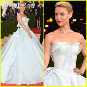 Claire Danes Looks Like Cinderella in Glow-in-the-Dark Zac Posen Gown for Met Gala 2016