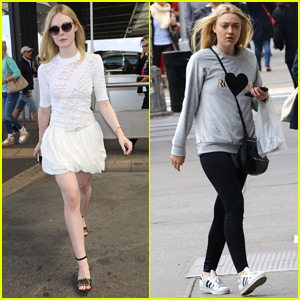 Elle Fanning Arrives in France for Cannes Film Festival