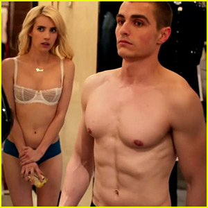 Emma Roberts & Dave Franco Strip Down in 'Nerve' Trailer
