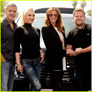 George Clooney & Julia Roberts Sing 'Hollaback Girl' With Gwen Stefani for Carpool Karaoke!