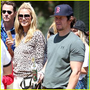 Heidi Klum & Mark Wahlberg Meet Up on the Soccer Field
