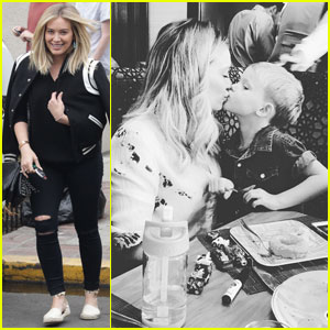 Hilary Duff Spends Mother's Day With Mike Comrie & Son Luca