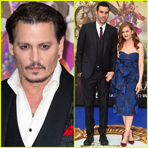 Johnny Depp & Sacha Baron Cohen Premiere 'Alice Through The Looking Glass' in London!
