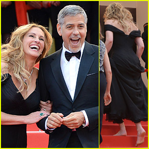 Julia Roberts Went Shoeless to Walk the Stairs at Cannes