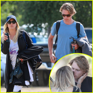 Kaley Cuoco & Rumored Boyfriend Karl Cook Steal a Quick Kiss!