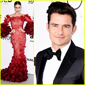 Katy Perry & Orlando Bloom Pose Separately at Cannes amfAR Gala 2016