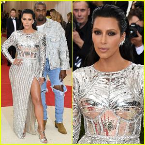 Kim Kardashian & Kanye West Are a Balmain Couple at Met Gala 2016